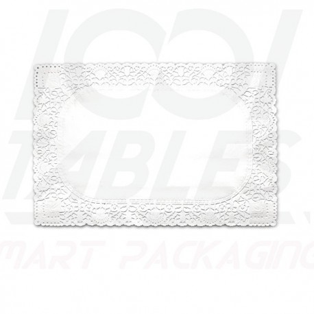 Papier Dentelle Blanche Rectangle