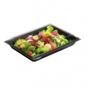 Ravier Salade Fond Noir + Coucercle 900 ml