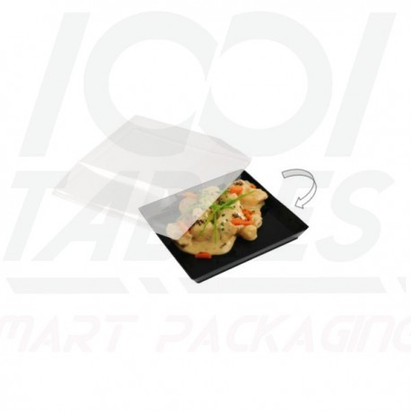 Assiette Quartz Carrée Noire 90*90*17mm