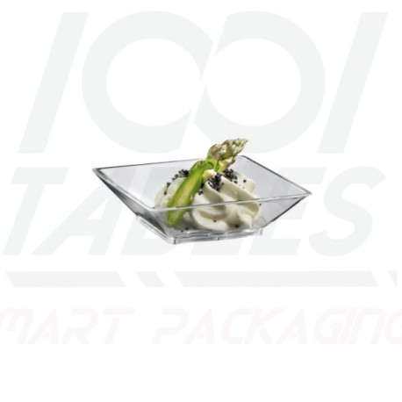 Mini Coupelle Carrée Transparente 67*67*18mm