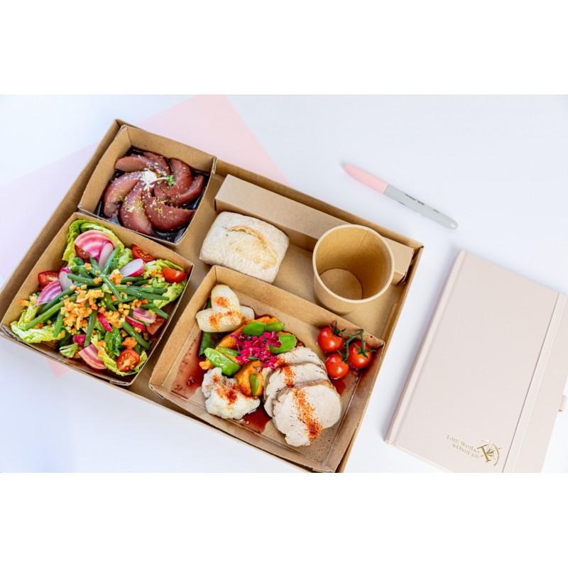 Kit Couverts Bois 4 en 1 Biodégradable C/F/PC/Serv