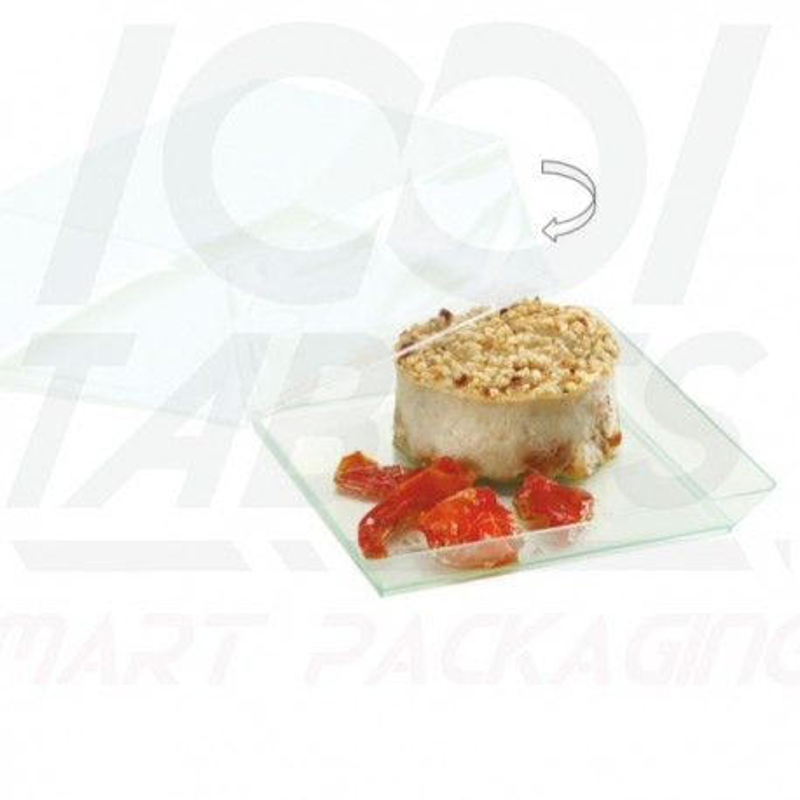 Couvercle Assiette Quartz Carré 160*160*18mm