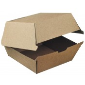 Burger Box medium Kraft - 140x140x70 mm