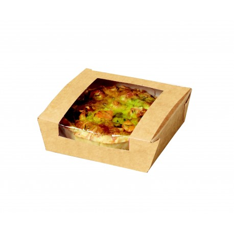 Tartelette snacking Kraft 120x120x40 mm