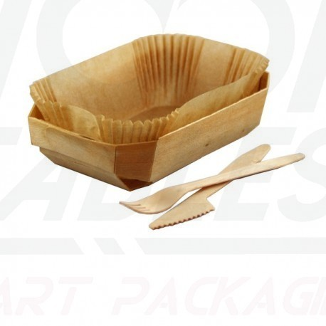 Barquette Snacking et cuisson 240*110*40 mm