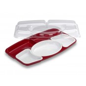 Kit Plateau Prestige 5 compartiments Rouge et Blanc