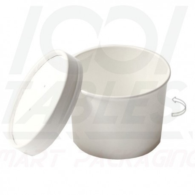 Pot à soupe Blanc en Carton 473ml