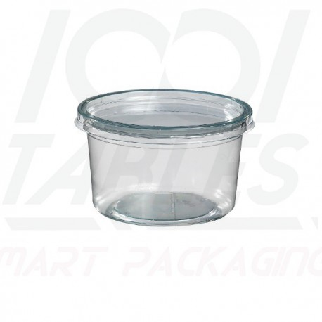 Pot Rond Transparent 275ml/couvercle inclu
