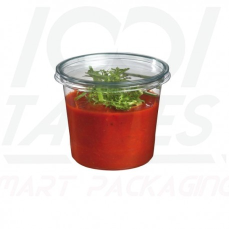 Pot Rond Transparent 375ml/couvercle inclu