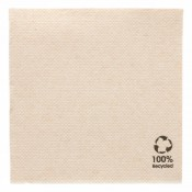 Serviettes Double point 20*20 marron recyclée