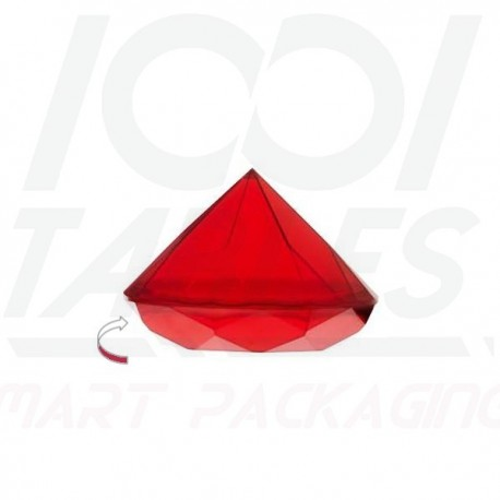 Assiette Diamant Rouge 40ml